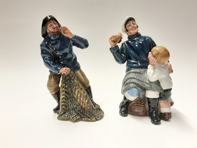Lot 142 - Two Royal Doulton figures - Song Of The Sea HN2729 and Sea Harvest HN2257