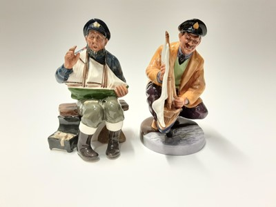 Lot 143 - Two Royal Doulton figures - Sailor's Holiday HN2442 and Tall Story HN2248
