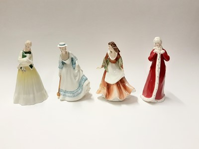Lot 144 - Four Royal Doulton figures - Springtime HN3033, Summertime HN3137, Autumntime HN3231 and Wintertime HN3060