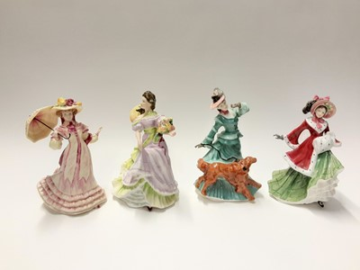Lot 145 - Four Royal Doulton figures - Springtime HN3477, Summertime HN3478, Autumntime HN3621 and Wintertime HN3622