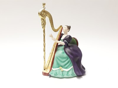 Lot 147 - Twelve Royal Doulton limited edition figures modelled by Peggy Davies - Harp HN2482, number 332, Dulcimer HN2798, number 685, Viola D'amore HN2797, number 589, Chitarrone HN2700, number 463, Hurdy-...