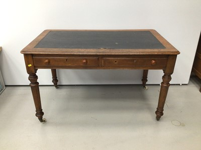 Lot 15 - Victorian oak writing table