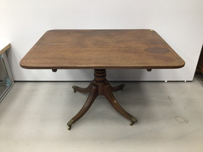 Lot 22 - Regency mahogany and ebony line inlaid breakfast table