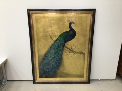 Lot 26 - Good decorative large picture of a peacock