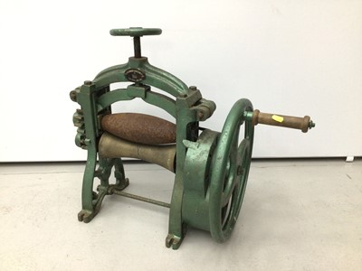 Lot 27 - Unusual early 20th century leather rolling machine