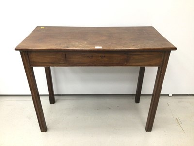 Lot 42 - 19th century mahogany side table, altered from a tea table