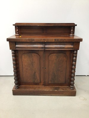 Lot 78 - Early Victorian mahogany chiffonier
