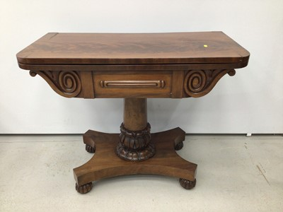 Lot 79 - William IV mahogany card table