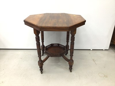 Lot 80 - Edwardian mahogany two tier octagonal occasional table, 74cm wide x 76cm high