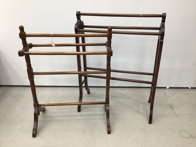 Lot 91 - Two late Victorian towel rails