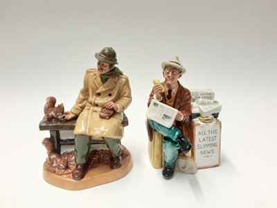 Lot 159 - Two Royal Doulton figures - Stop Press HN2683 and Lunchtime HN2485