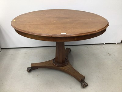 Lot 110 - Victorian mahogany circular breakfast table
