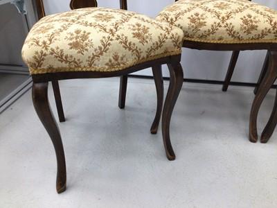 Lot 98 - Edwardian Art Nouveau mahogany set of four...