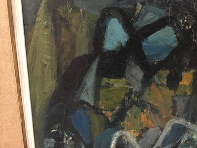 "Lot 1059 - *Antoni Clave (1913-2005) oil on board - ""Petit Arlequin"", signed, 40cm x 26cm, framed  Provenance: Arthur Tooth & Sons Ltd, Bruton Street, London"