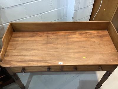 Lot 91 - Victorian mahogany washstand