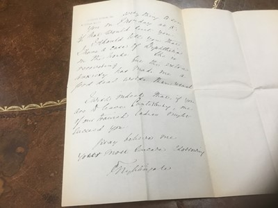 Lot 1249 - An important collection of letters - Miss Florence Nightingale and Miss Leslie Gardiner and others