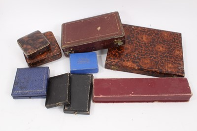 Lot 30 - Group of antique and later empty jewellery boxes