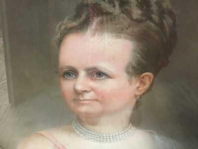 Lot 94 - John Whitehead Walton (19th century) pair of pastel portraits.