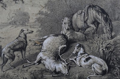 Lot 124 - Samuel John Carter, clark and charcoal deer hunt