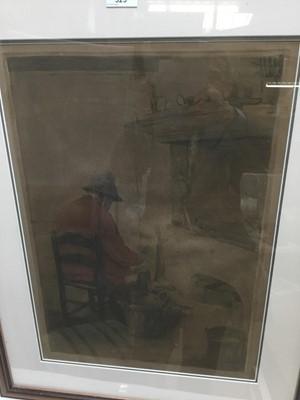 Lot 96 - Isidore Opsomer (1878-1961) etching of an interior scene, signed and inscribed, plate 52 x 37cm, frames