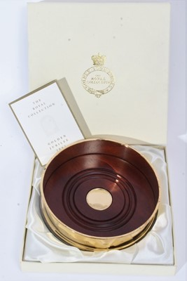 Lot 64 - Queen's Golden Jubilee silver gilt coaster in box