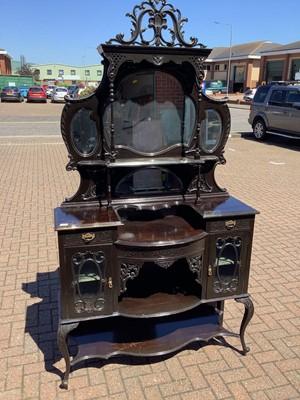Lot 138 - Late 19th century mirror back chiffonier