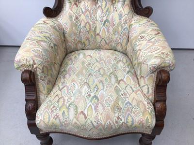 Lot 40 - Victorian mahogany framed spoon back chair
