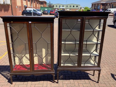 Lot 133 - Near pair of Chippendale style display cabinets