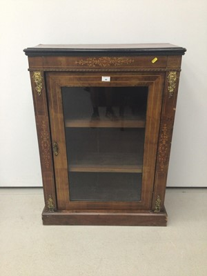 Lot 46 - Victorian walnut and inlaid pier cabinet