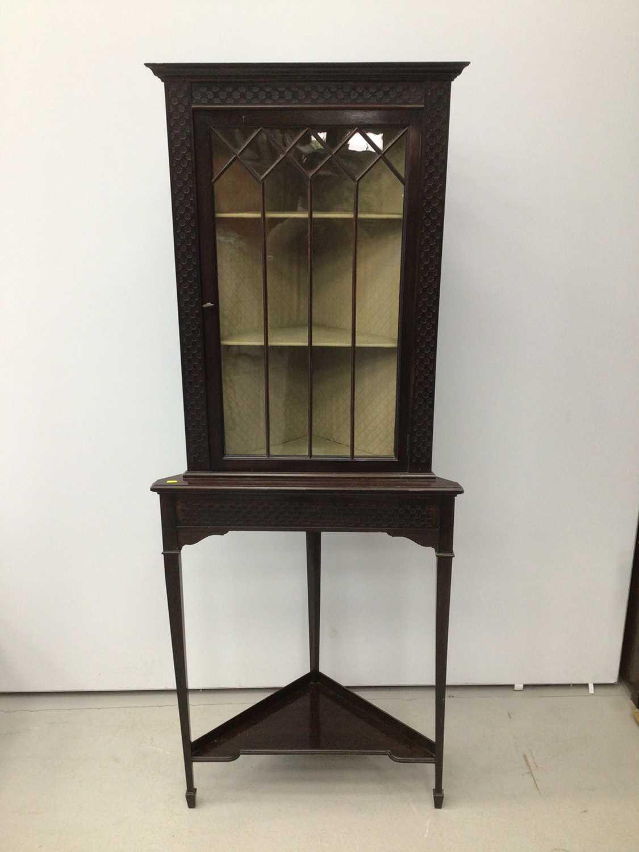 Lot 29 - Edwardian mahogany corner cupboard