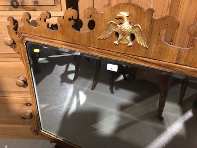 Lot 8 - George I style walnut carved feet wall mirror