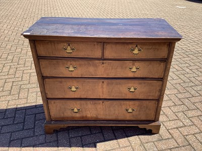 Lot 141 - 19th century Continental walnut chest of drawers