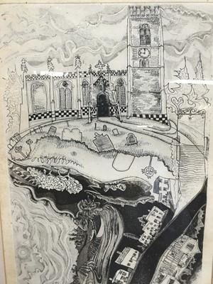 Lot 152 - Glyn Thomas (b. 1946) etching Kersey