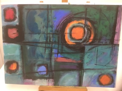 Lot 180 - Manner of a Henry Cliffe (1919-1983) two watercolours on paper, abstract compositions