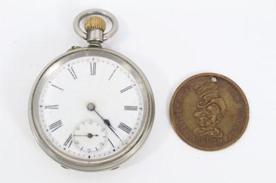 Lot 44 - Ally Sloper's Half Holiday pocket watch and token