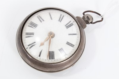 Lot 45 - Victorian silver pair cased Colchester pocket watch
