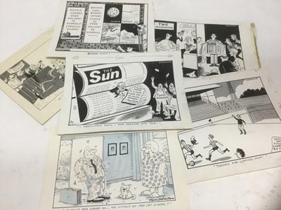 Lot 111 - Franklin - group of original pen and ink political cartoons
