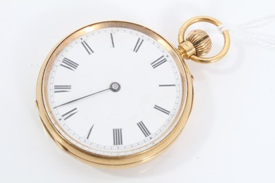 Lot 31 - 18ct gold cased fob watch