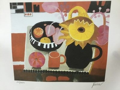 Lot 105 - *Mary Fedden (1915-2012) signed limited edition print, 'The Orange Mug', 1996, No. 507 / 550, published by Bow Art, unframed, 32cm x 40.5cm