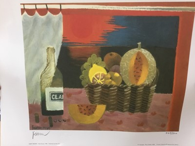 Lot 107 - *Mary Fedden (1915-2012) signed limited edition print, Red Suset', 1994, 345 / 500, published by Bow Art, unframed, 35cm x 50cm
