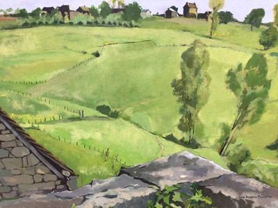 Lot 159 - John Andrew Bawtree (b 1952) oil on board, landscape