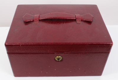 Lot 40 - Good quality Victorian red Moroccan leather jewellery box