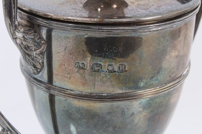 Lot 42 - Silver two handled trophy cup and cover with engraved inscription- Bramshot Golf Club 1928