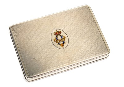 Lot 4 - H.M. King Umberto I  of Italy, Royal presentation silver and enamel box