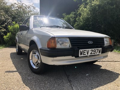 Lot 1 - Formerly the property of H.R.H. Diana Princess of Wales - 1981 Ford Escort 1.6 Ghia, Registration WEV 297W