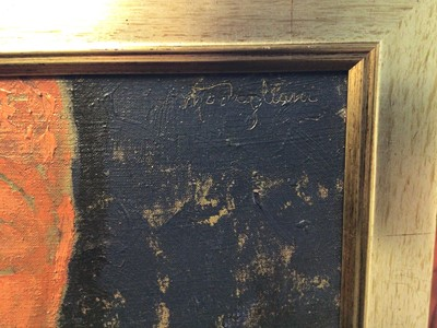 Lot 11 - Follower of Modigliani oil on canvas figure study