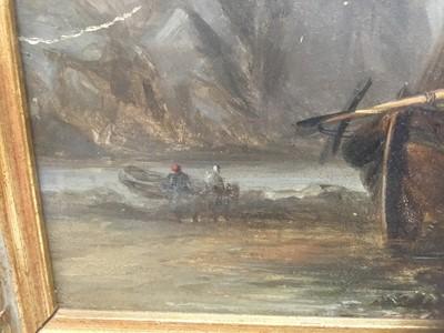 Lot 14 - 19th century oil on panel coastal scene