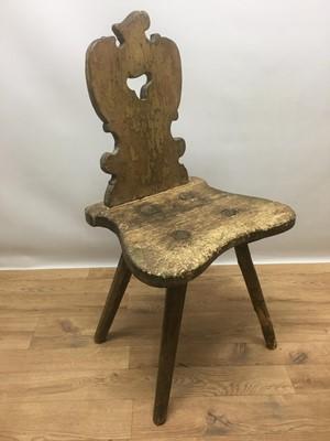 Lot 938 - 19th century Eastern European rustic chair
