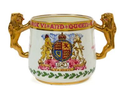 Lot 54 - The Coronation of King George VI 1937-  Paragon Coronation loving  cup