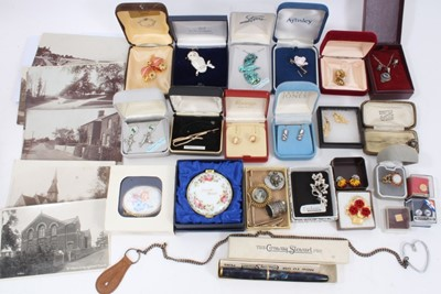 Lot 51 - Group costume jewellery and bijouterie including Conway Stewart fountain pen